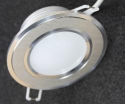 Встраиваемый светильник с металлическим корпусом 5W (круг) B102 B103