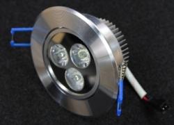 Встраиваемый светильник 3W круглый (металлический ободок) В706 B707