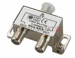 ДЕЛИТЕЛЬ ТВ х 2 под F разъём 5-1000 МГц