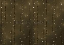 """Гирлянда """"Светодиодный Дождь"""" 2х1,5м, постоянное свечение, белый провод, 220В, д"""