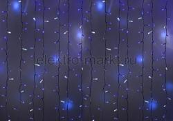 """Гирлянда """"Светодиодный Дождь"""" 2х1,5м, эффект мерцания, белый провод, 220В, диоды"""