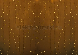 """Гирлянда """"Светодиодный Дождь"""" 2х1,5м, постоянное свечение,прозрачный провод, 220"""