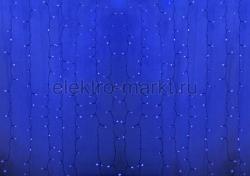"""Гирлянда """"Светодиодный Дождь"""" 2х1,5м, пстоянное свечение, прозрачный провод, 220"""