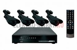 Комплект видеонаблюдения 4 наружные камеры (без жесткого диска) REXANT