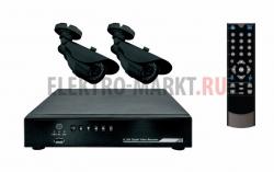 Комплект видеонаблюдения 2 наружные камеры (без жесткого диска) REXANT