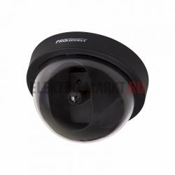 Муляж внутренней купольной камеры видеонаблюдения черного цвета с мигающим красн