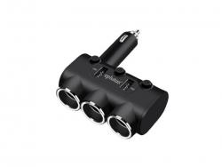 Автомобильный разветвитель прикуривателя с USB 2-а гнезда Eplutus FС-337 12/24V