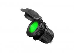 Гнездо прикуривателя с зелёной подсветкой врезное