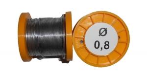 Припой ПОС-61 без канифоли 100г 0,8мм