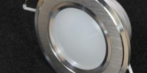 Встраиваемый светильник с металлическим корпусом 3W (круг) B100