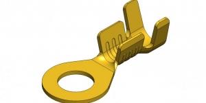 Клемма HATKO кольцо 3.1 латунь (провод 0.5-1 мм) 100207004