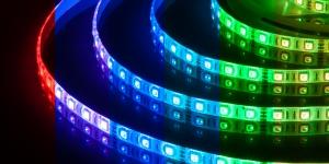 Светодиодная лента влагозащищённая SMD5050 60Led разноцветный RGB 12V IP65