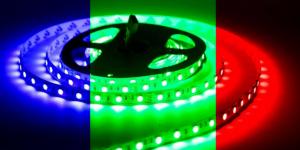 Светодиодная лента SMD5050 60Led разноцветный RGB 12V IP33