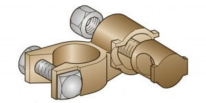 Аккумуляторная клемма латунь втулочная минусовая 25мм*