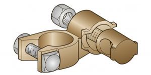 Аккумуляторная клемма латунь втулочная плюсовая 25мм*