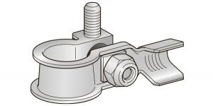 Аккумуляторная клемма минусовая DX 1 шплинт М8 под обжим 10-20мм*