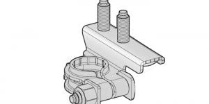 Аккумуляторная клемма минусовая 2 шплинта М6-М8