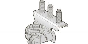 Аккумуляторная клемма плюсовая 3 шплинта М6-М8-М6