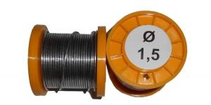Припой ПОС-61 с канифолью 100г 1,5мм