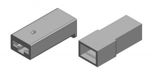 Набор разъёма без провода 1 контакт (клеммы в комплекте)
