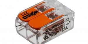 Клемма 2 контактная компактная 0,2-4 кв. мм. 221-412