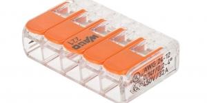 Клемма 5 контактная компактная 0,2-4 кв. мм. 221-415