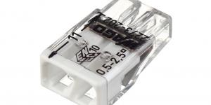 Клемма 2 контактная, компактная, 0.5-2.5 кв.мм 2273-202