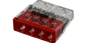Клемма 4 контактная, компактная, 0.5-2.5 кв.мм 2273-204