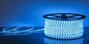 Светодиодная лента влагозащищённая SMD2835 60Led синий 220V IP67