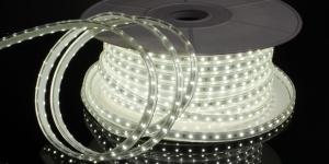 Светодиодная лента влагозащищённая SMD2835 60Led белый холодный 220V IP67