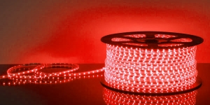 Светодиодная лента влагозащищённая SMD2835 60Led красный 220V IP67