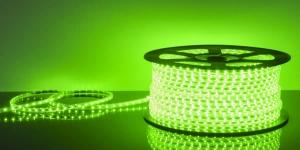 Светодиодная лента влагозащищённая SMD2835 60Led зелёный 220V IP67