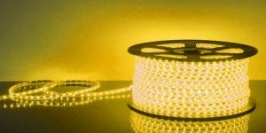 Светодиодная лента влагозащищённая SMD2835 60Led жёлтый 220V IP67