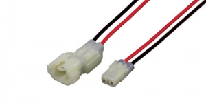 Герметичный разъём 2-х контактный с проводом белый