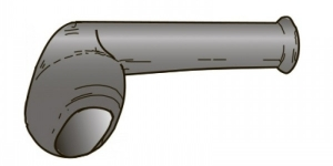 Резиновый наконечник угловой герметичного разъёма на 2 контакта