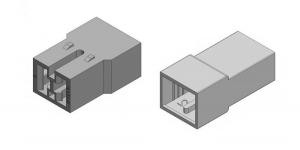 Набор разъёма без провода 2 контакта (клеммы в комплекте)