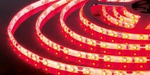 Светодиодная лента влагозащищённая SMD3528 60Led красный 12V IP65