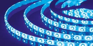 Светодиодная лента влагозащищённая SMD3528 60Led синий 12V IP65