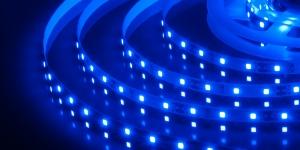 Светодиодная лента SMD3528 60Led синий 12V IP33