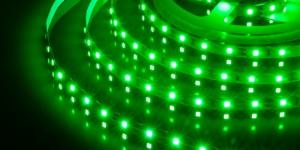 Светодиодная лента SMD3528 60Led зелёный 12V IP33