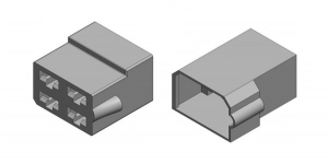 Набор разъёма без провода 4 контакта (клеммы в комплекте)
