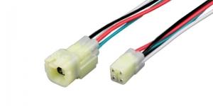 Герметичный разъём 4-х контактный с проводом белый