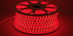 Светодиодная лента влагозащищённая SMD5050 60Led красный 220V IP67