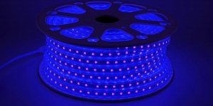 Светодиодная лента влагозащищённая SMD5050 60Led синий 220V IP67
