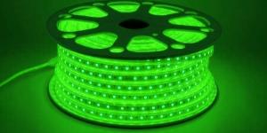 Светодиодная лента влагозащищённая SMD5050 60Led зелёный 220V IP67