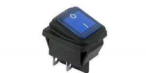 Выключатель клавишный влагозащищённый на 2 группы контактов с подсветкой SC767