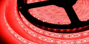 Светодиодная лента влагозащищённая SMD3528 120Led красный 12V IP65