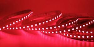 Светодиодная лента SMD3528 120Led красный 12V IP33