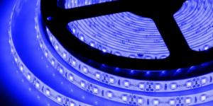 Светодиодная лента влагозащищённая SMD3528 120Led синий 12V IP65