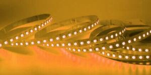 Светодиодная лента SMD3528 120Led жёлтый 12V IP33
